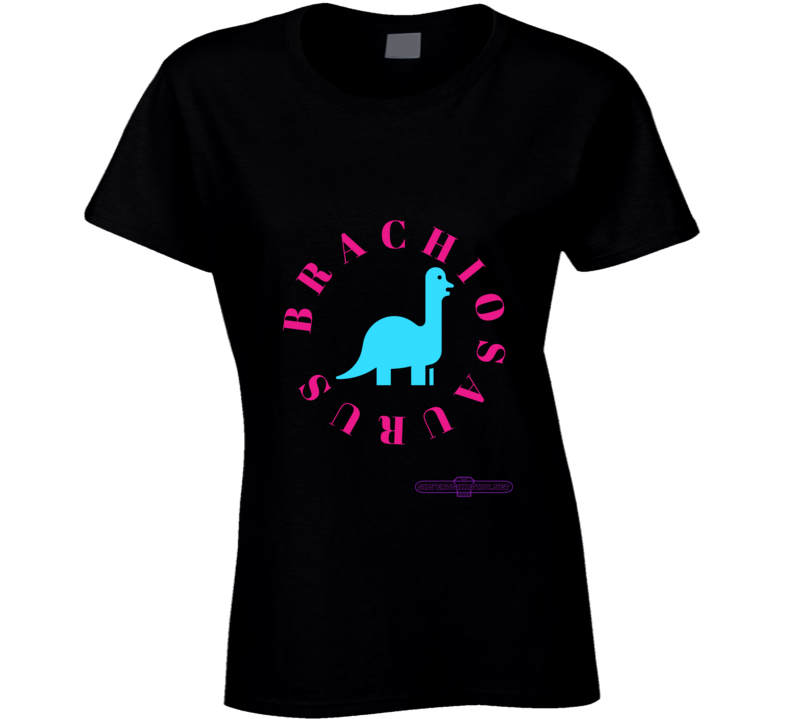 Brachiosaurus Dinosaur In Teal I Eat From The Tops Of Trees