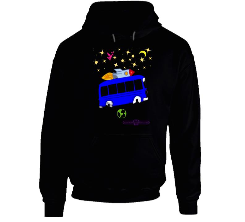 Outer Space Rocket Bus Fun Cartoon Hoodie