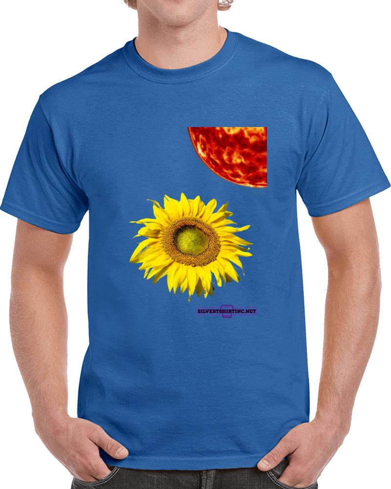 How Much Sunlight Can A Sunflower Tolerate  T Shirt