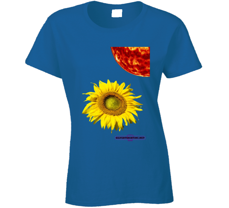 How Much Sunlight Can A Sunflower Tolerate Ladies T Shirt