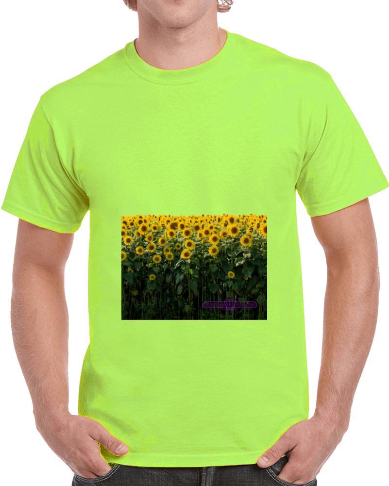 Sunflowers In A Summer Field T- Shirt