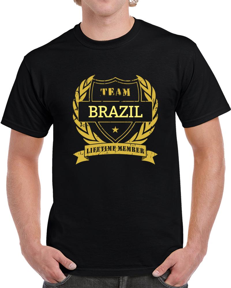 Brazil National Soccer Team Lifetime Member T Shirt