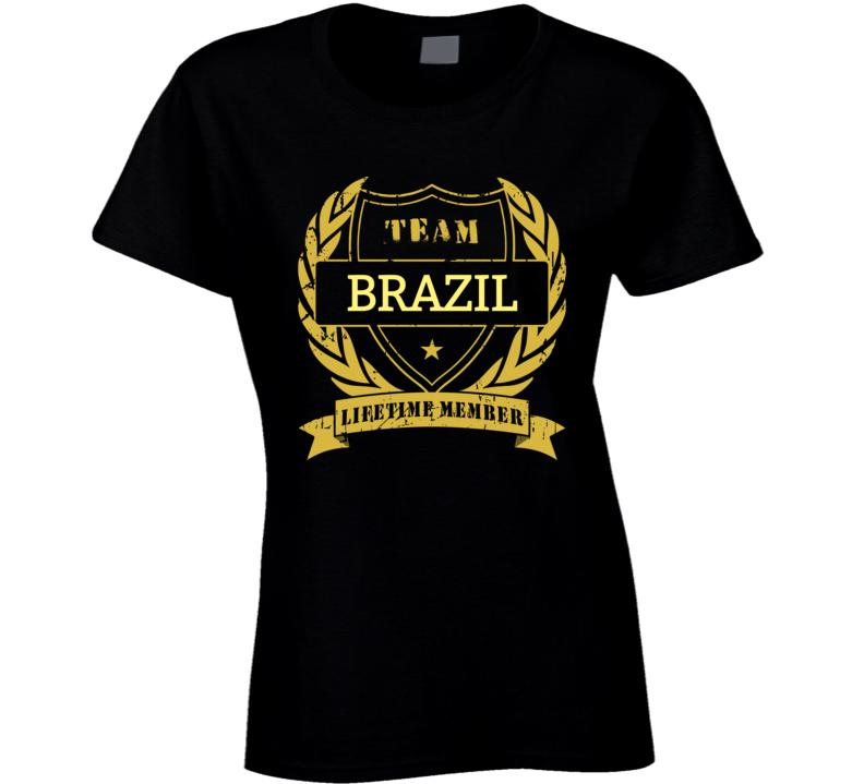 Brazil National Soccer Team Lifetime Member Ladies T Shirt