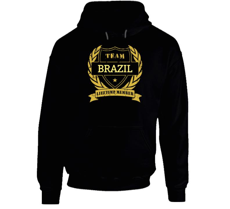 Brazil National Soccer Team Lifetime Member Hoodie