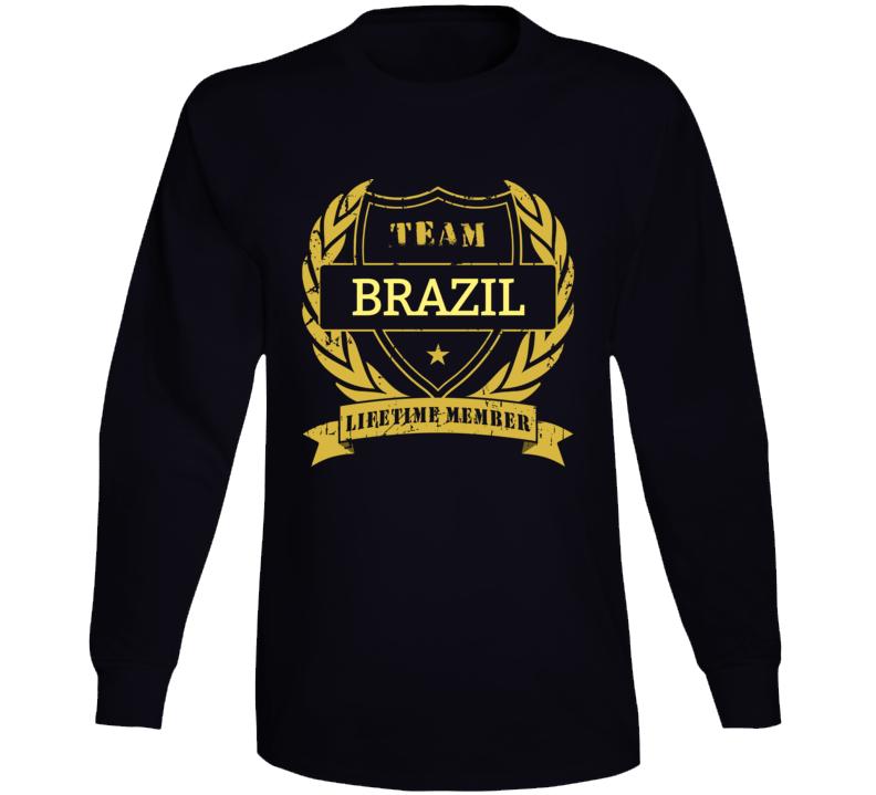 Brazil National Soccer Team Lifetime Member  Long Sleeve