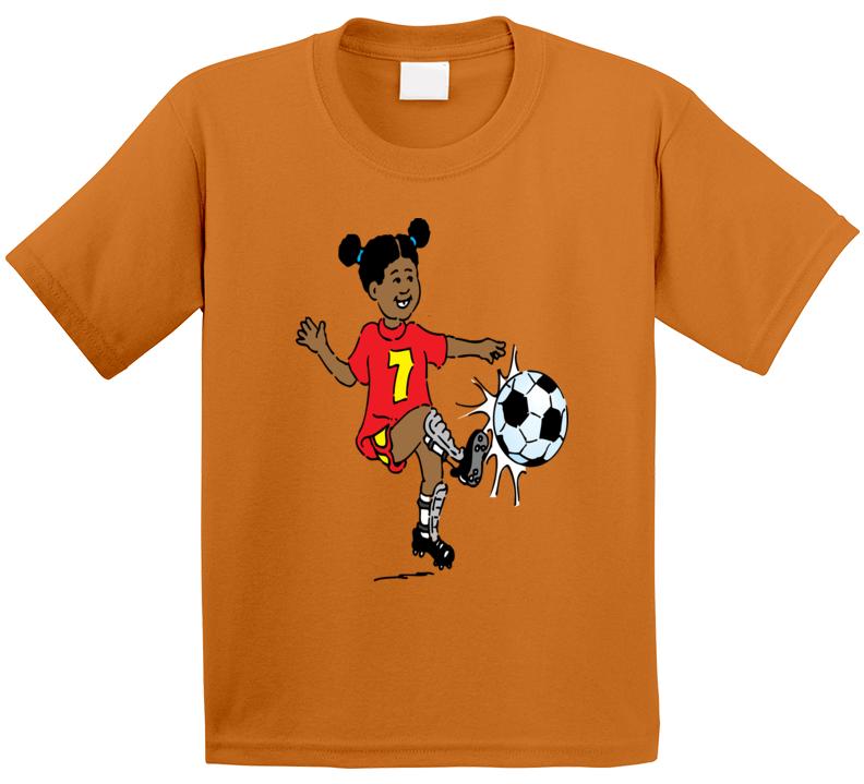 Girl Soccer Player T Shirt