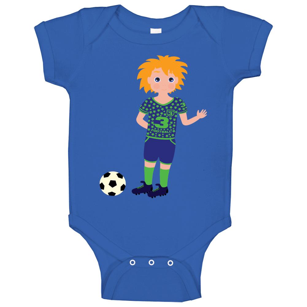Boy Soccer Player Baby One Piece