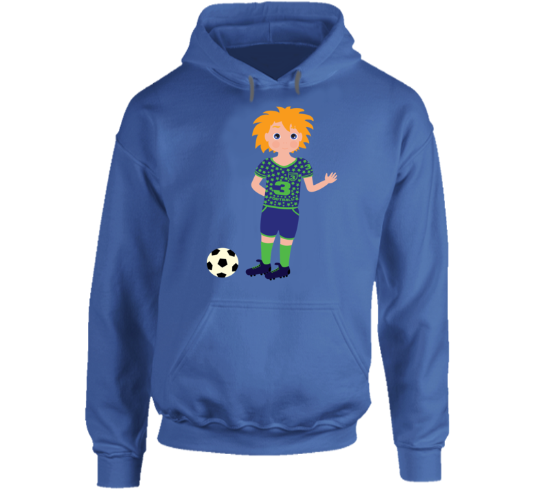 Boy Soccer Player Hoodie