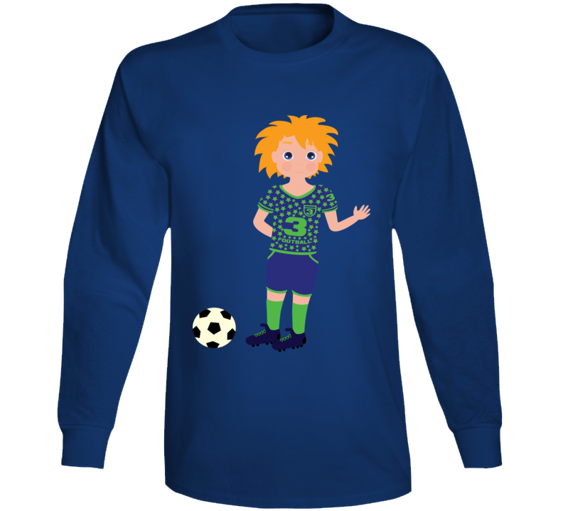Boy Soccer Player Long Sleeve