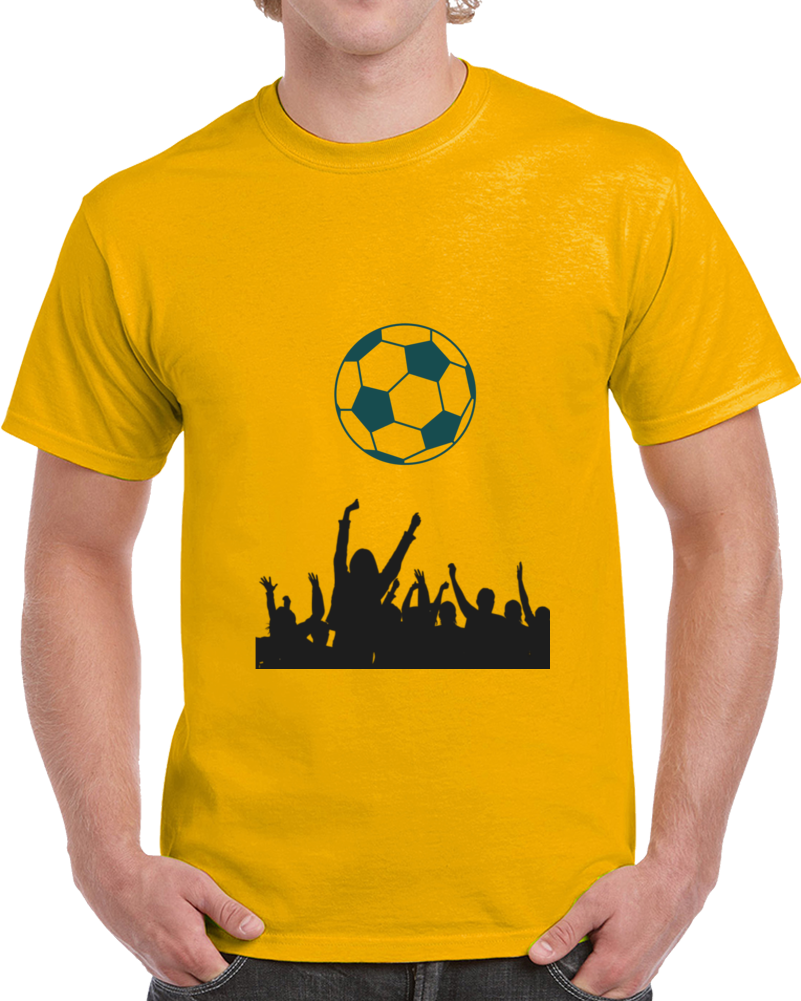 Soccer Fanatics Cheering During  A Game T Shirt