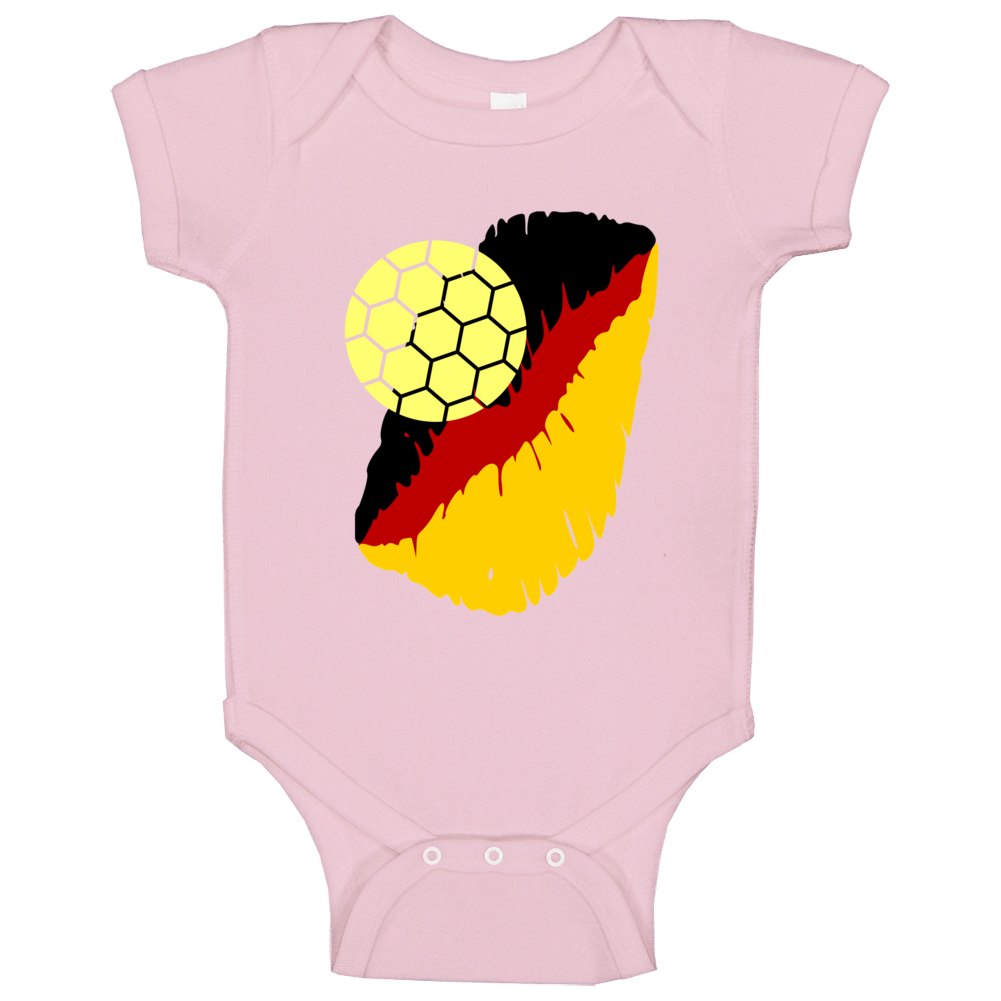I Love The German National Soccer Team Baby One Piece