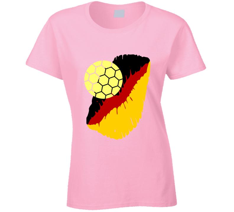 I Love The German National Soccer Team Ladies T Shirt