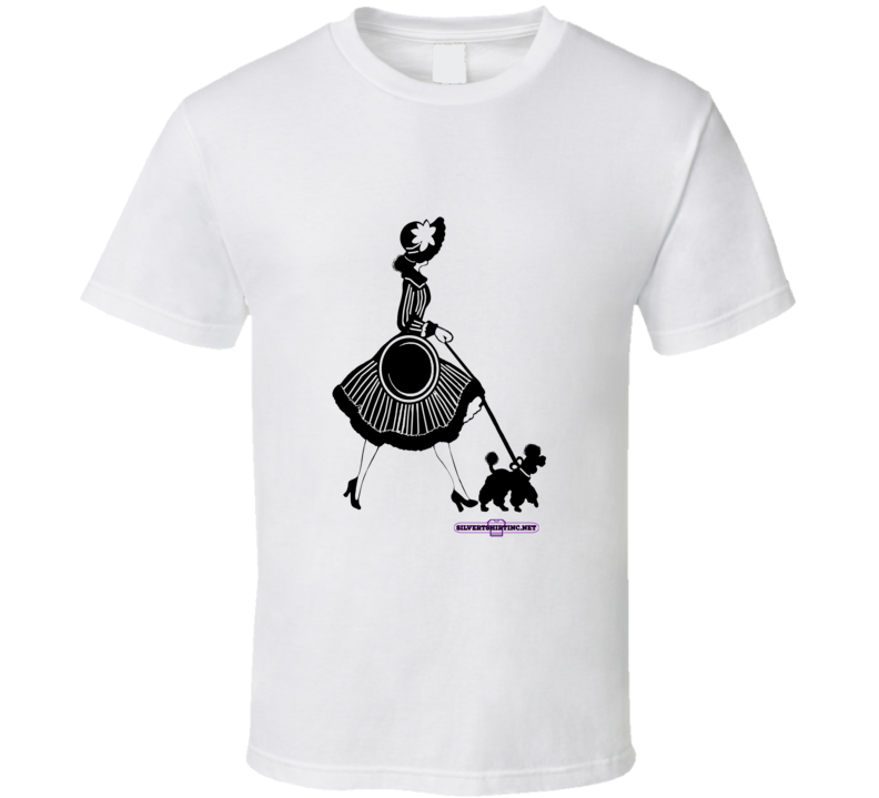 Glama Lady Walking Her Poodle In The Late Evening Hours T Shirt