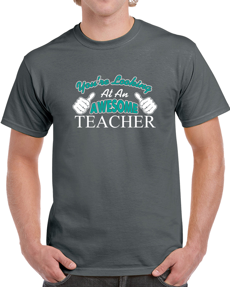 You're Looking At An Awesome Teacher T Shirt