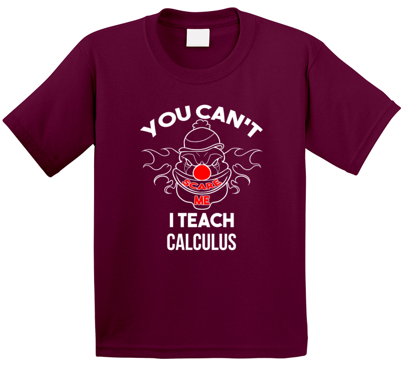 You Can't Scare Me I Teach Calculus T Shirt