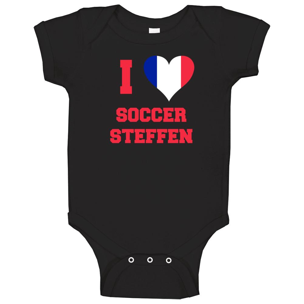 I Love Soccer Steffen Baby One Piece