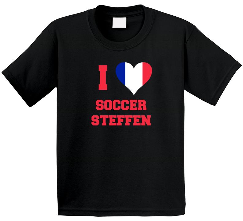 I Love Soccer Steffen T Shirt