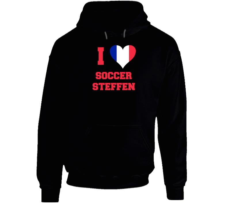 I Love Soccer Steffen Hoodie