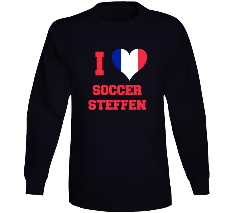 I Love Soccer Steffen Long Sleeve T Shirt