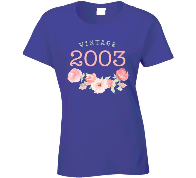 Vintage Human 2003 Edition Ladies T Shirt
