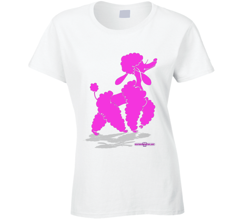 Glam Poodle Slay Day Ladies T Shirt