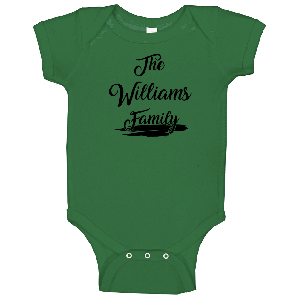 The Williams Family Baby One Piece