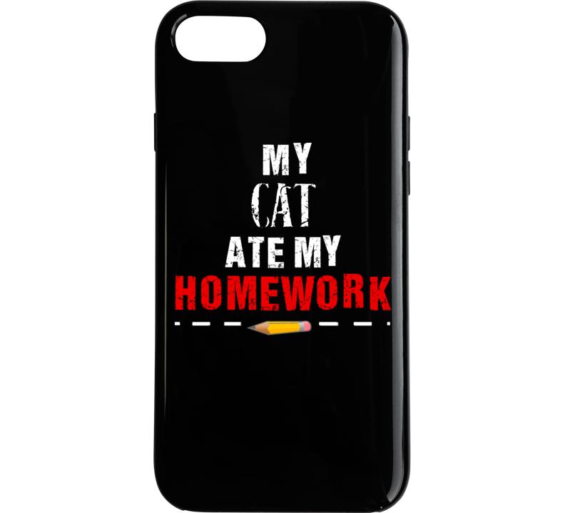 My Cat Ate My Homework Phone Case