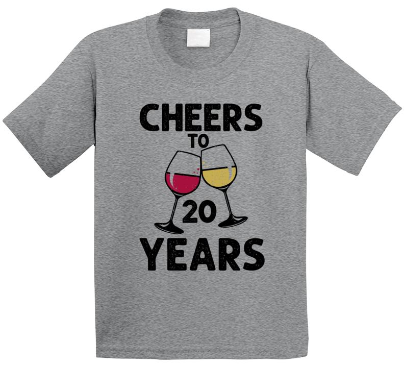 Happy Birthday Cheers To 20 Years T Shirt