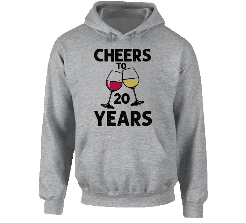 Happy Birthday Cheers To 20 Years Hoodie
