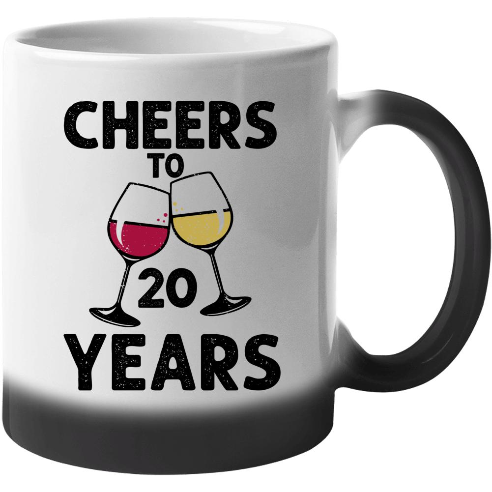 Happy Birthday Cheers To 20 Years Mug