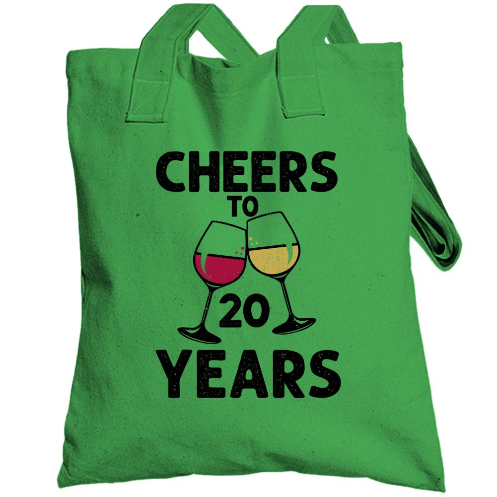 Happy Birthday Cheers To 20 Years Totebag