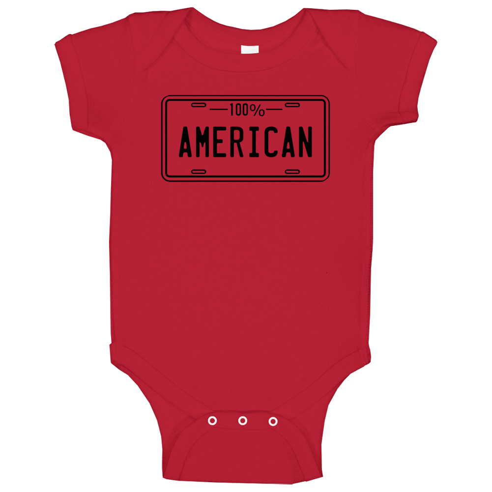 One Hundred Percent American Baby One Piece