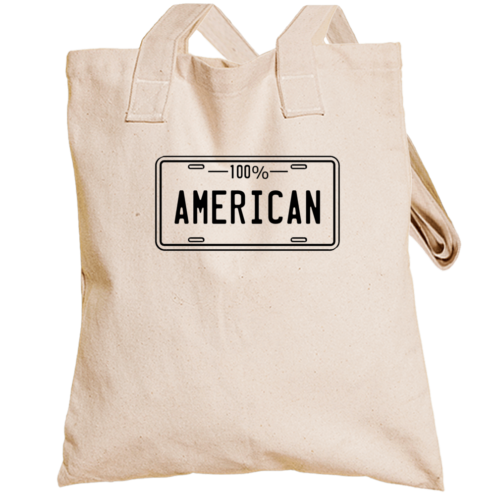 One Hundred Percent American Totebag