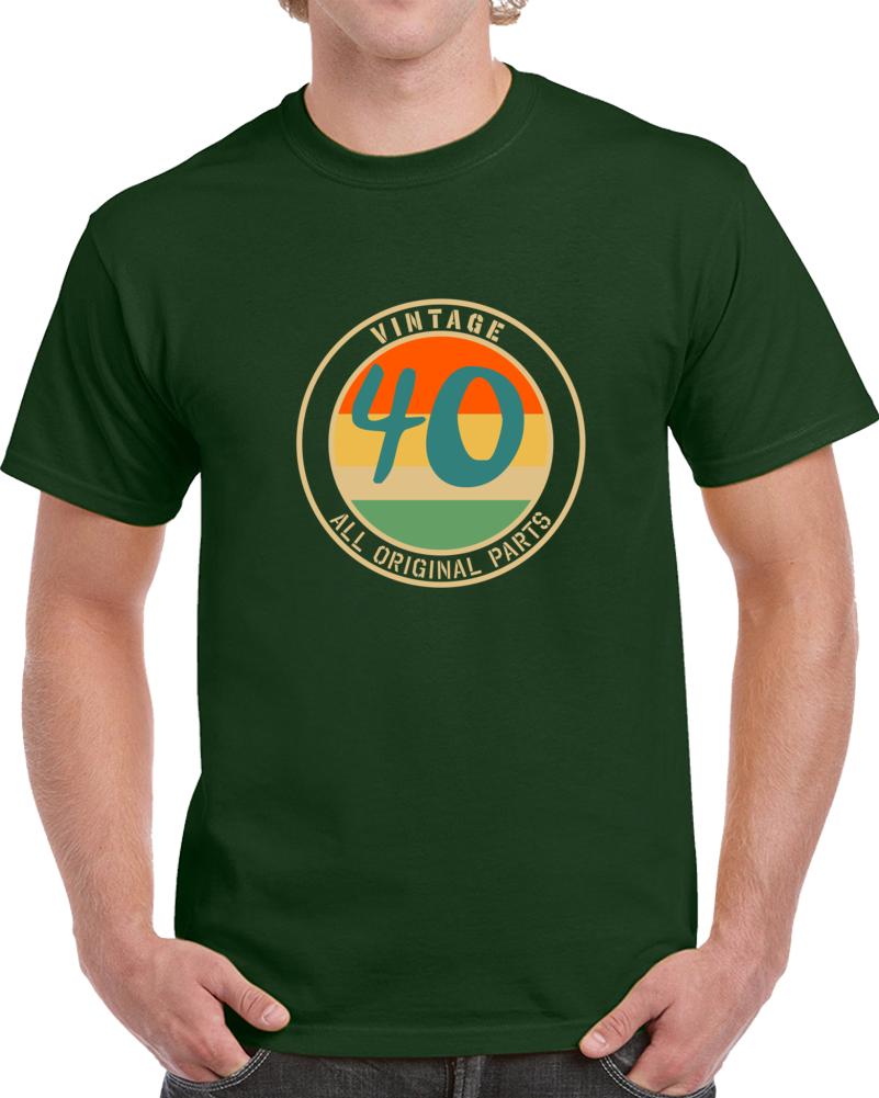 Vintage 40 All Original Parts T Shirt