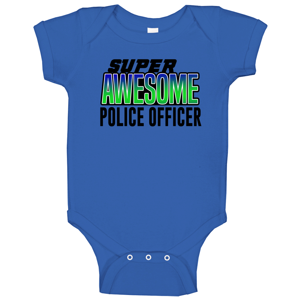 Super Asesome Policie Officer Baby One Piece