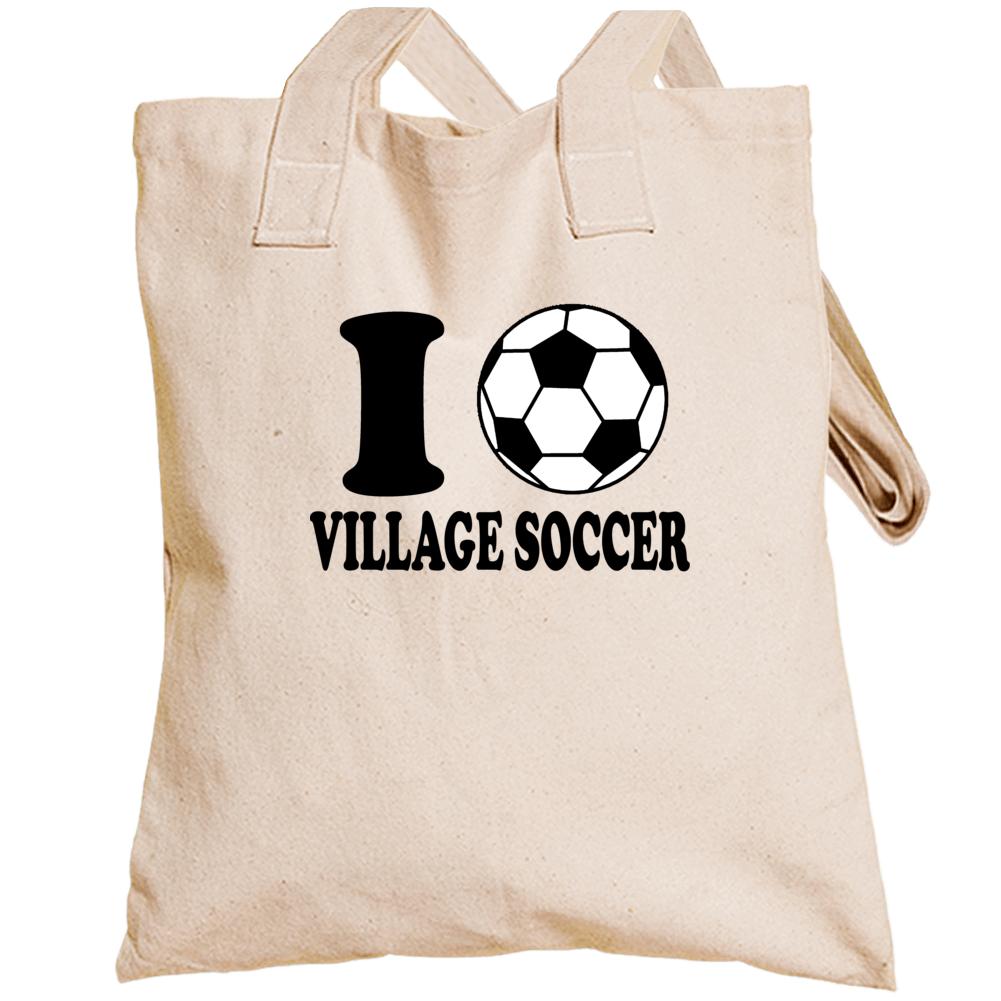 I Love Village Soccer Totebag