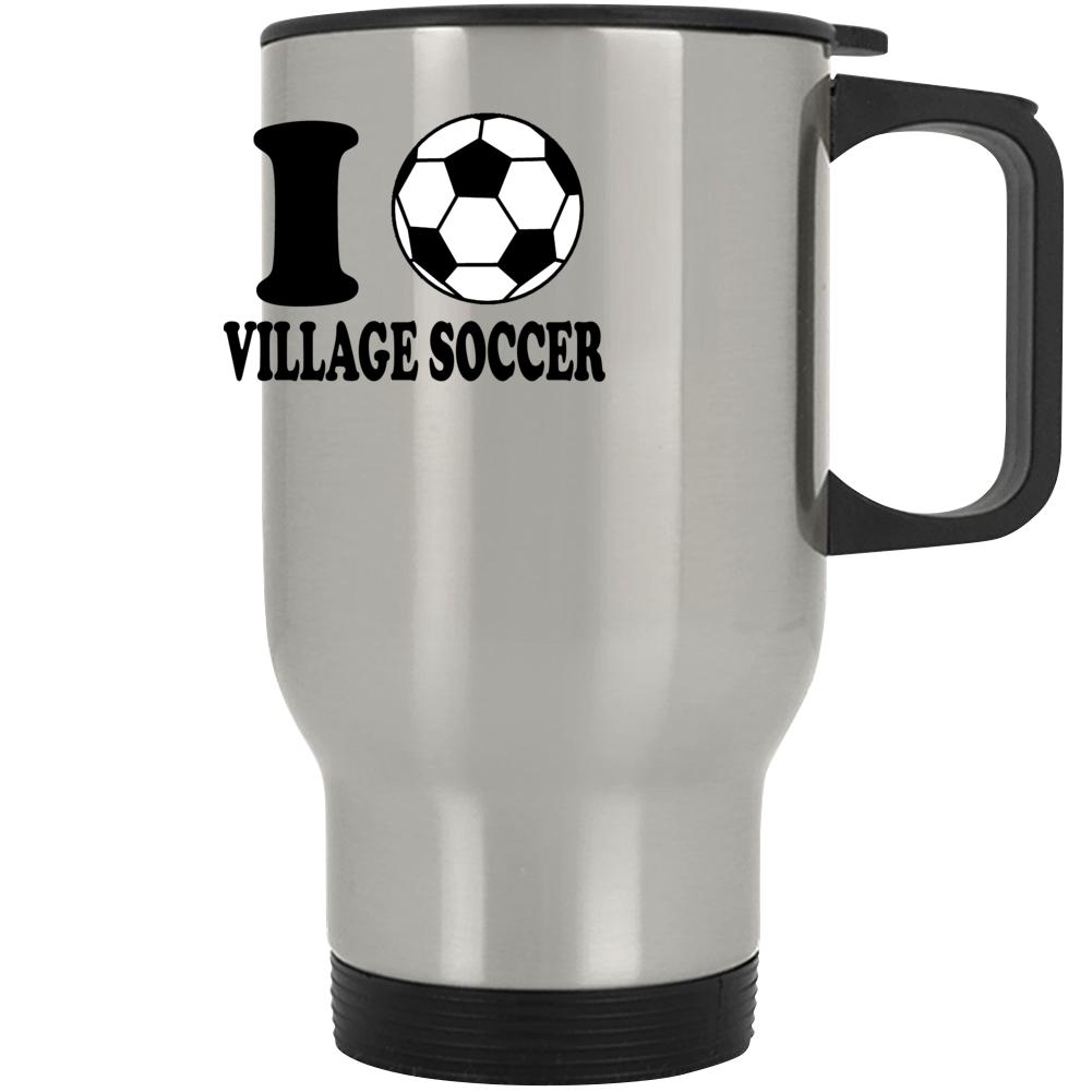 I Love Village Soccer Mug