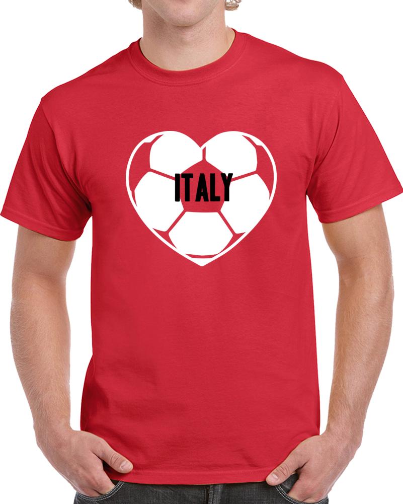 I Love Italy National Soccer Team T Shirt