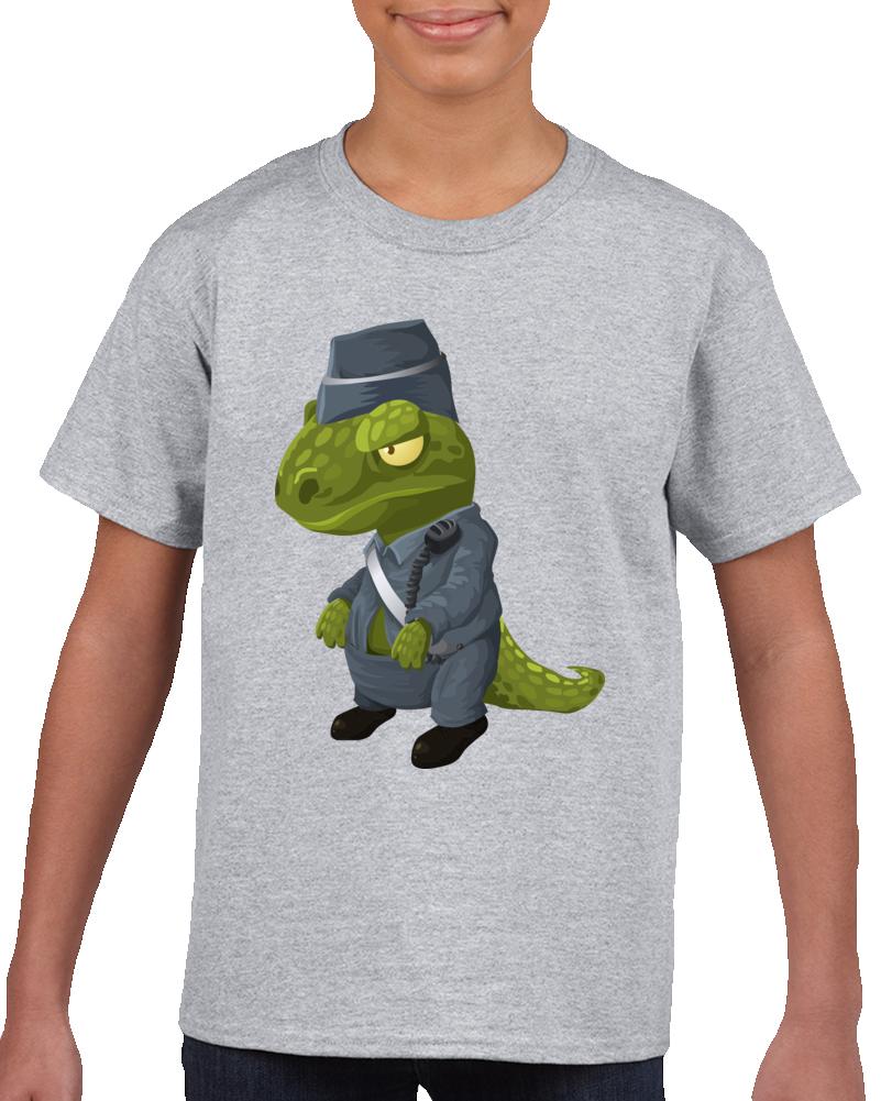 Dinosaur Police Officer T Shirt