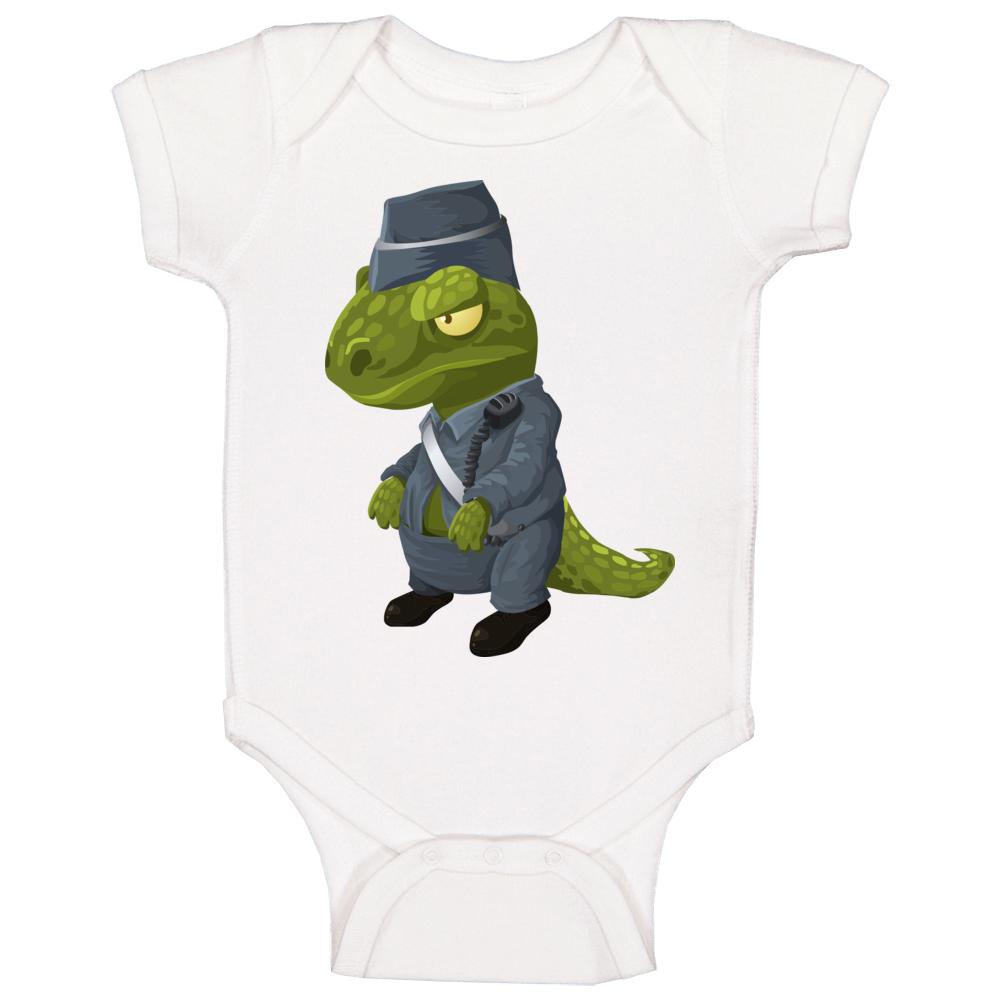 Dinosaur Police Officer Baby One Piece