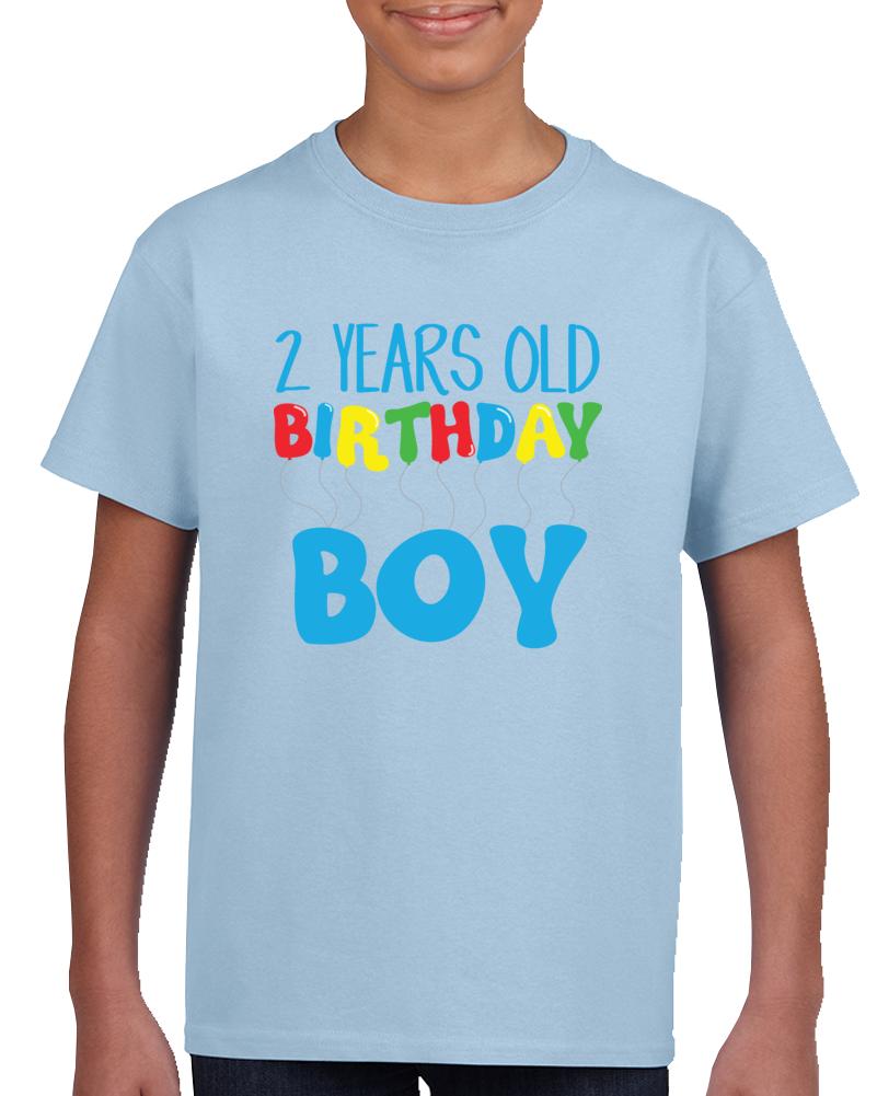 2 Years Old Birthday Boy T Shirt