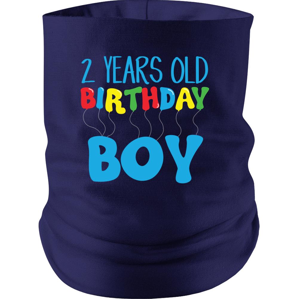 2 Years Old Birthday Boy Neck gaiter