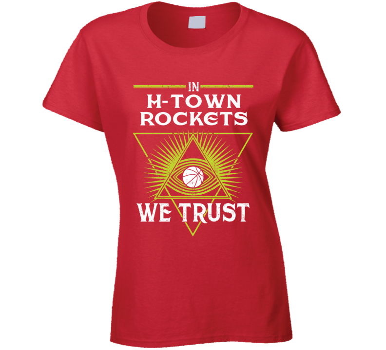 Rockets Bask Ladies T Shirt