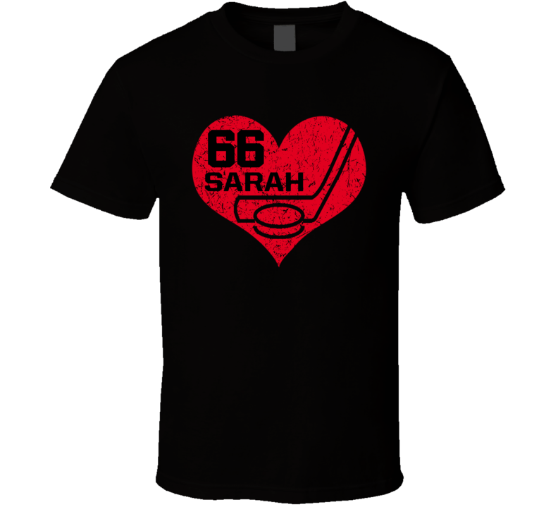 Heart With Stick Puck Name Number Custom T Shirt