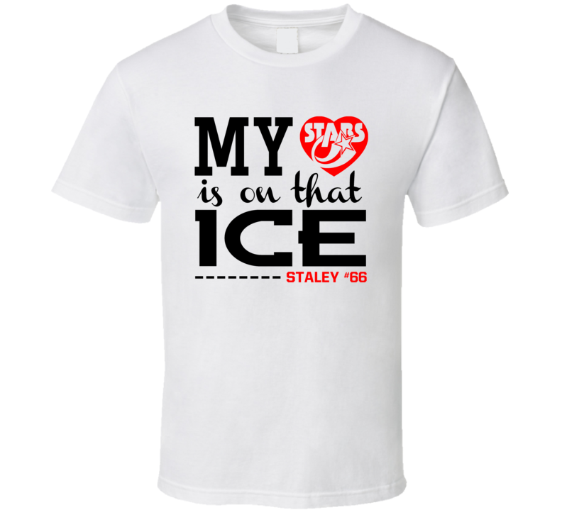 My Heart Is On That Ice Custom Name Number Stars Fan T Shirt