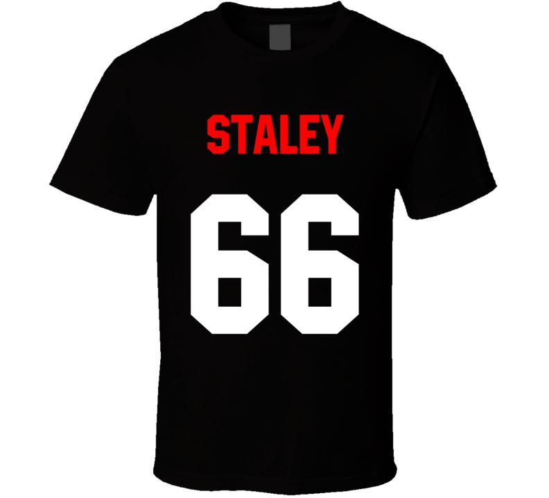 Name Number Jersey Back Black T Shirt