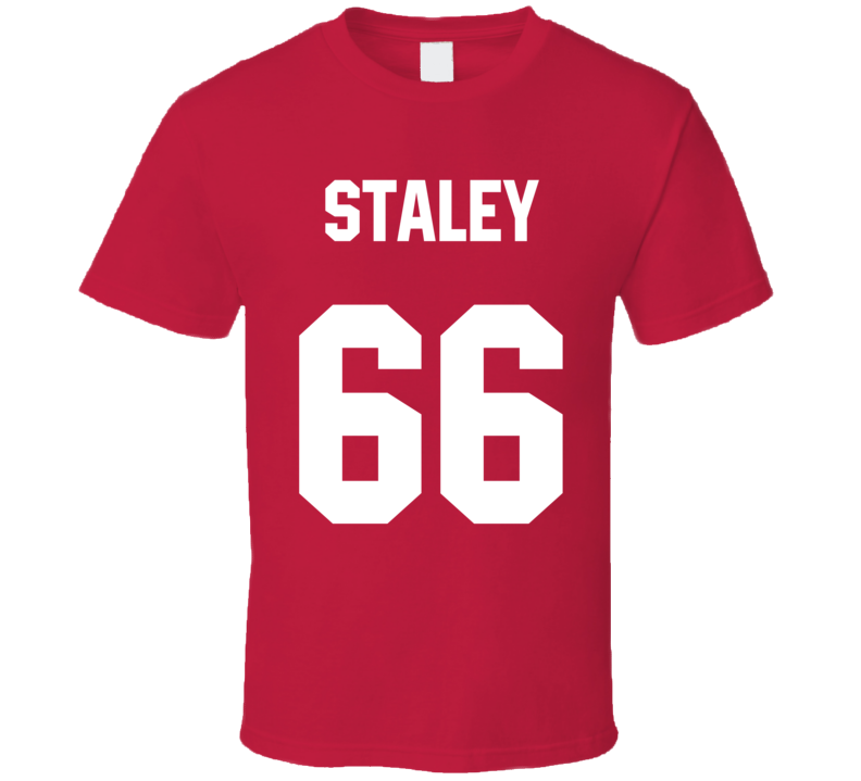 Name Number Jersey Back Red T Shirt