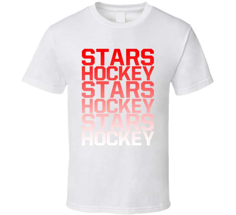 Stars Hockey Team Name Gradient T Shirt