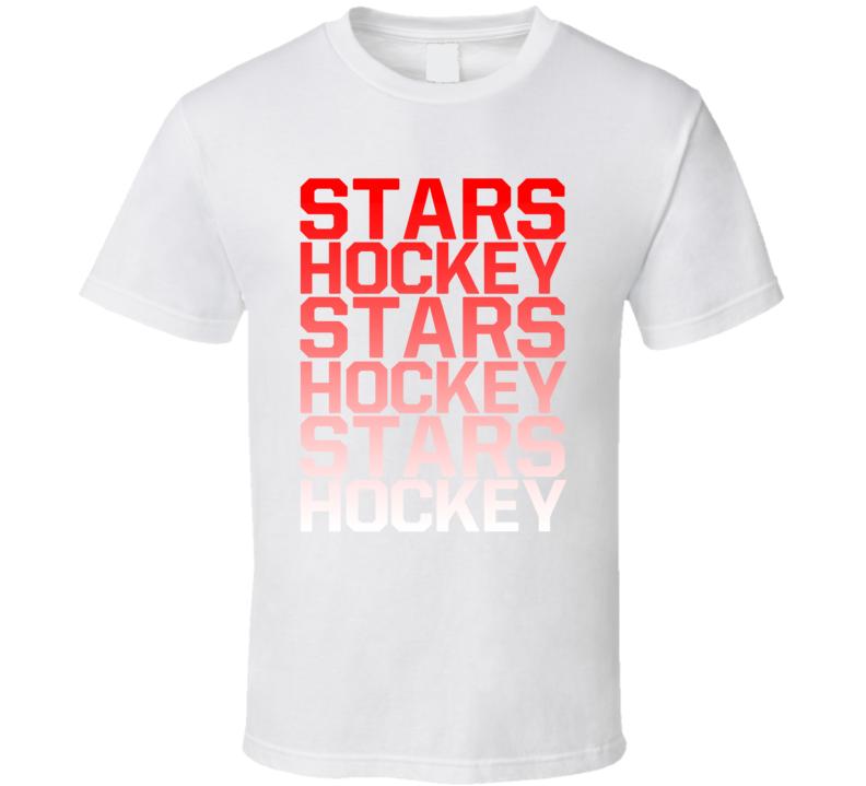 Stars Hockey Team Name Gradient T Shirt