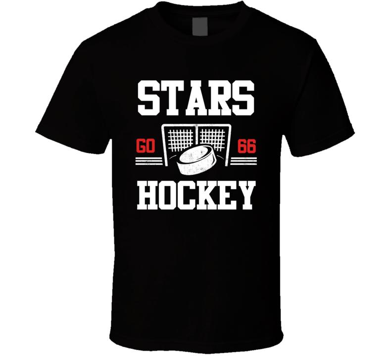 Stars Hockey Go Custom Player Number T Shirt
